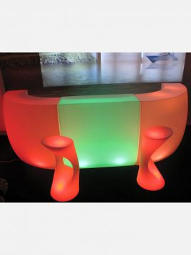 صندلی نورانی کانتر آذین پلی نور مدل کمرباریک