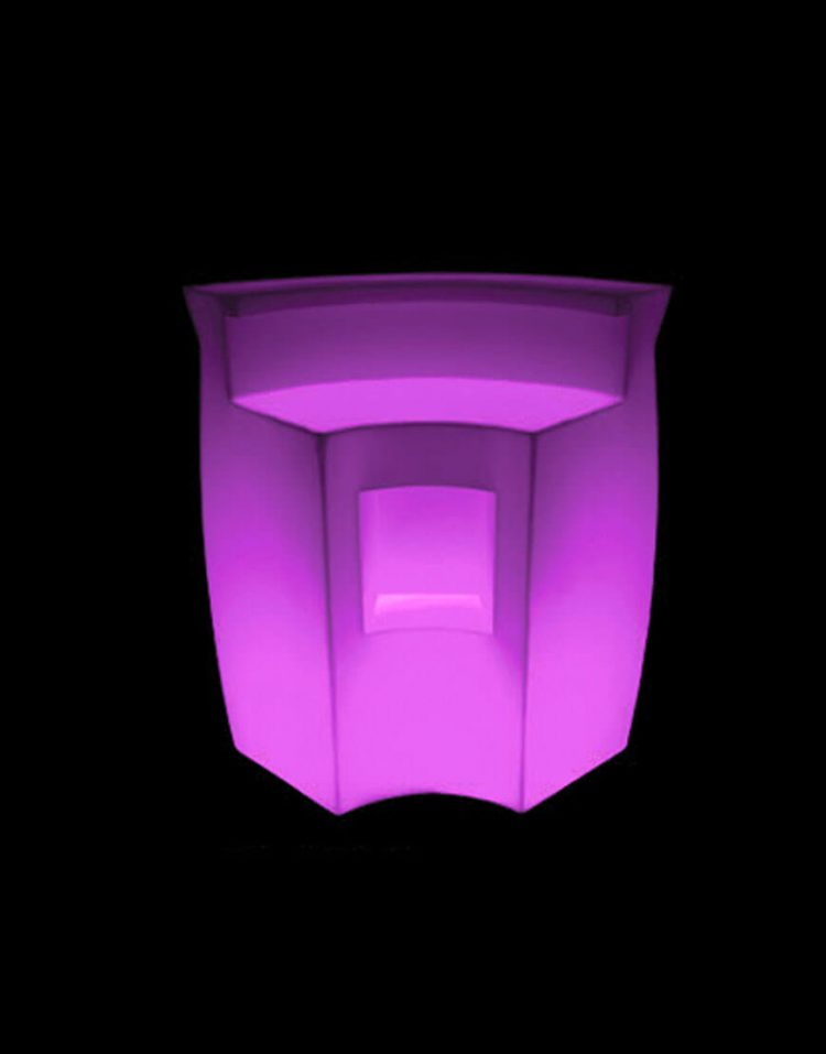 میزبار نورانی آذین پلی نور مدل چند تکه گوشه