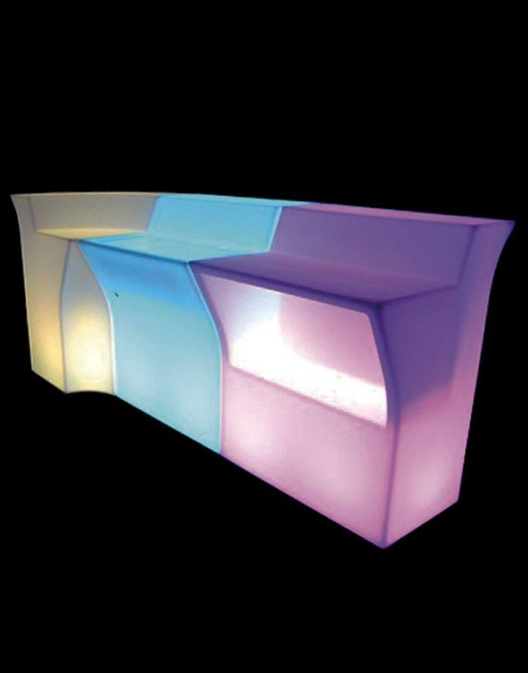 میزبار نورانی آذین پلی نور مدل چند تکه وسط