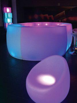 میزبار نورانی آذین پلی نور مدل هلالی