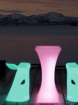 میز نورانی آذین پلی نور کمر باریک مدل مربع