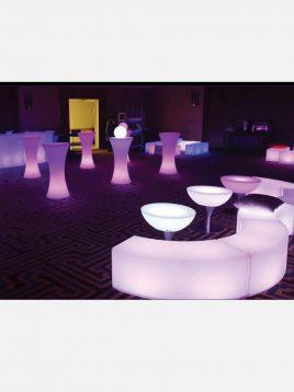 میز نورانی سوآرز آذین پلی نور مدل پایه استیل