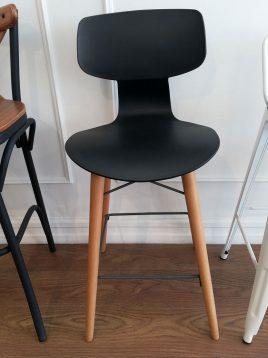 صندلی کانتر نظری مدل یوگو پایه چوبی