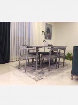 فرش مدرن خاکستری کرم کد P643