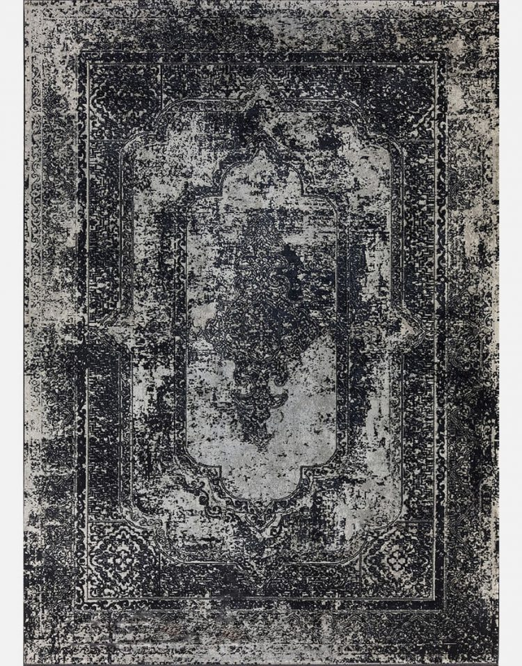 فرش مدرن مدل پیرل مشکی کد ۳۲۰۵