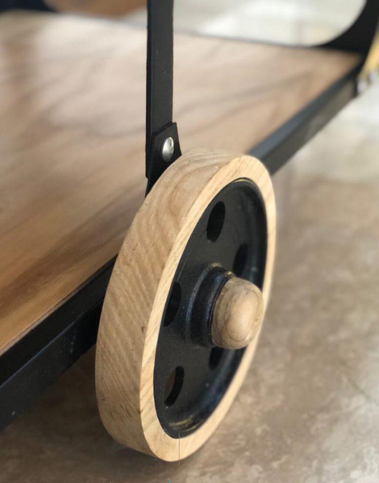 میزبار چوبی فلزی کد VW107