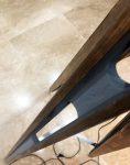 آباژور پایه بلند فلزی با پایه چوبی مدل VF6104