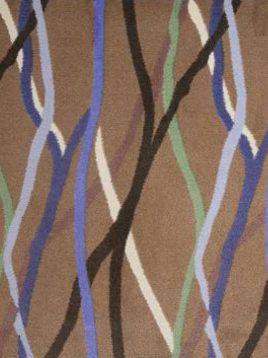 موکت هتلی دارای خط منحنی رنگی بوژان