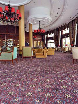 موکت هتلی بادمجانی روشن بوژان کد ۱۵
