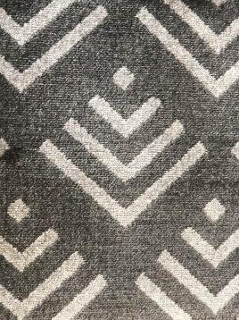 موکت خاکستری با طرح هندسی بوژان