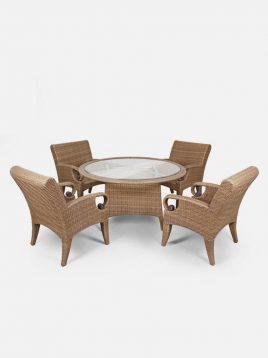 ست میز و صندلی حصیری بورنووی مدل کاترین