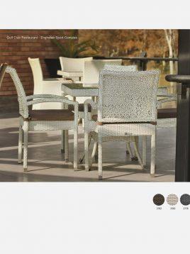 ست میز و صندلی حصیری بورنووی بافت ستاره ای مدل لونا