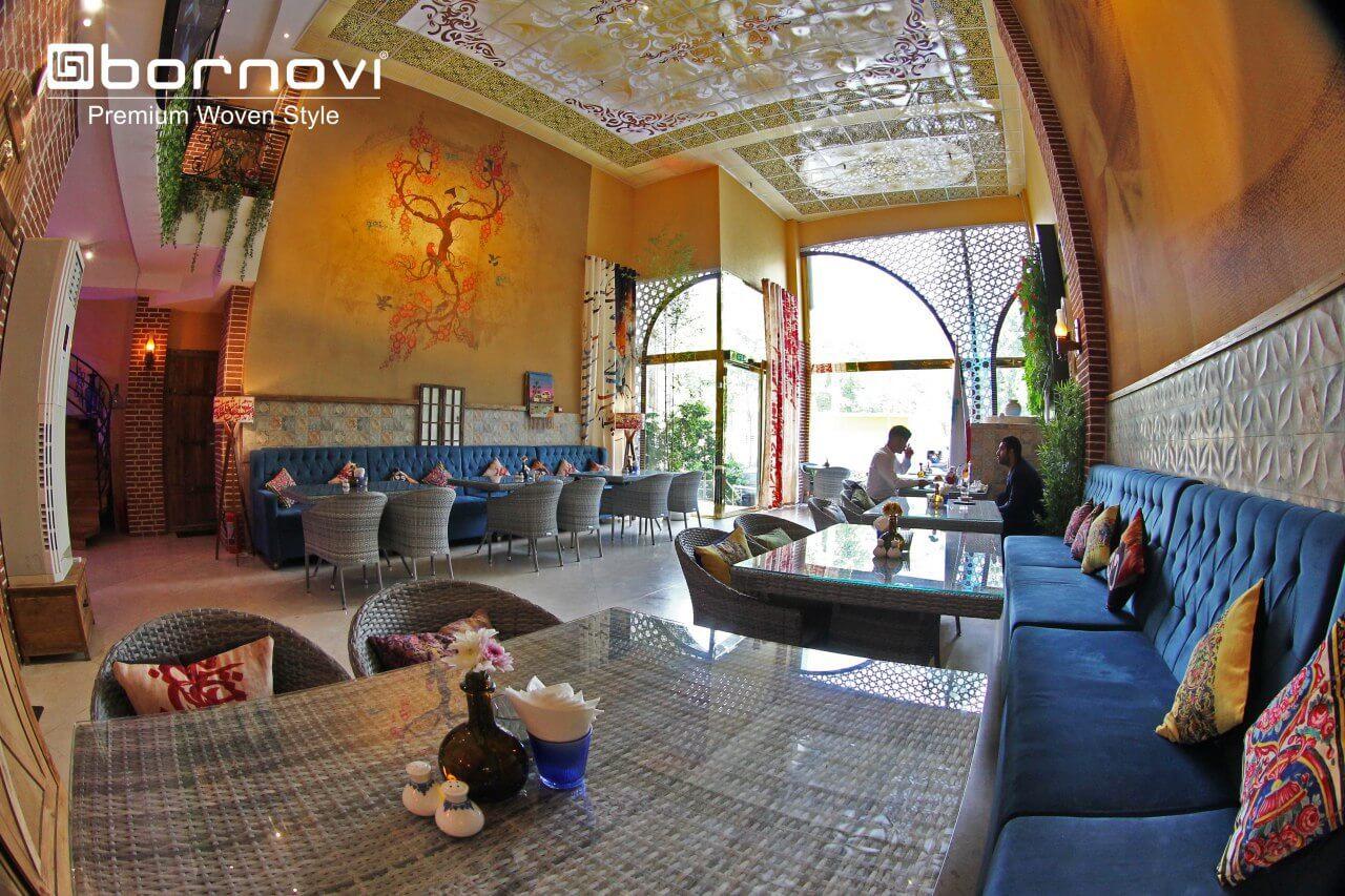 bornovi foursome set woven chair table model torino 000 - ست میز و صندلی حصیری بورنووی مدل تورینو -  - patio-dining-furniture