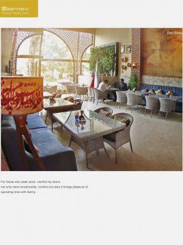 ست میز و صندلی حصیری بورنووی مدل تورینو