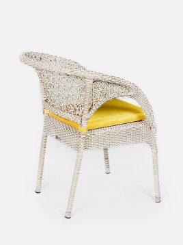 صندلی حصیری بورنووی بافت ستاره ای مدل سولار