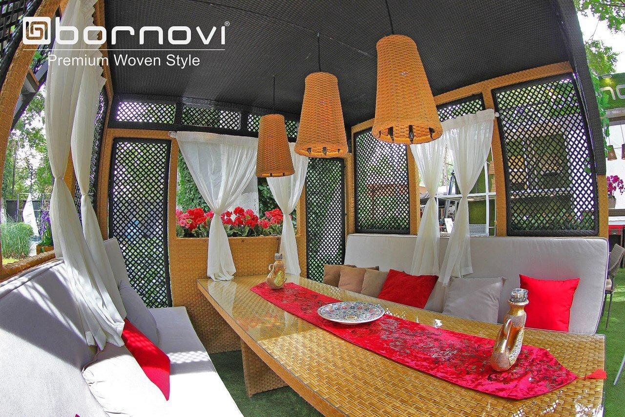 bornovi two floor woven gazebo model paya plus 0 - آلاچیق دو طبقه حصیری بورنووی مدل پایا پلاس -  - gazebos