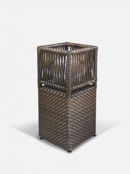 چراغ باغی حصیری بورنووی مدل مکعبی