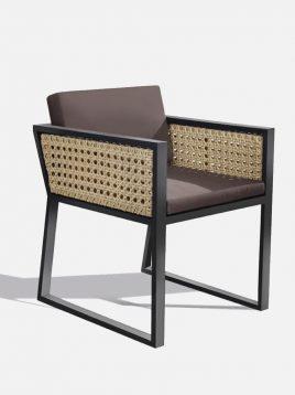 صندلی دسته دار حصیری بورنووی مدل رویان