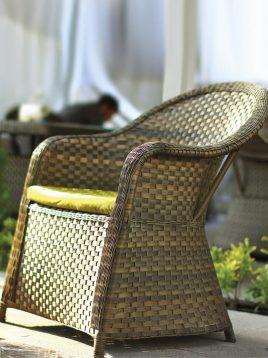 صندلی راحتی حصیری بورنووی مدل پاتریس