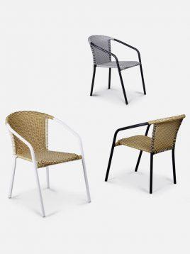 صندلی راحتی حصیری بورنووی مدل رز