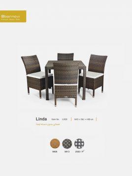 صندلی بدون دسته حصیری بورنووی مدل لیندا