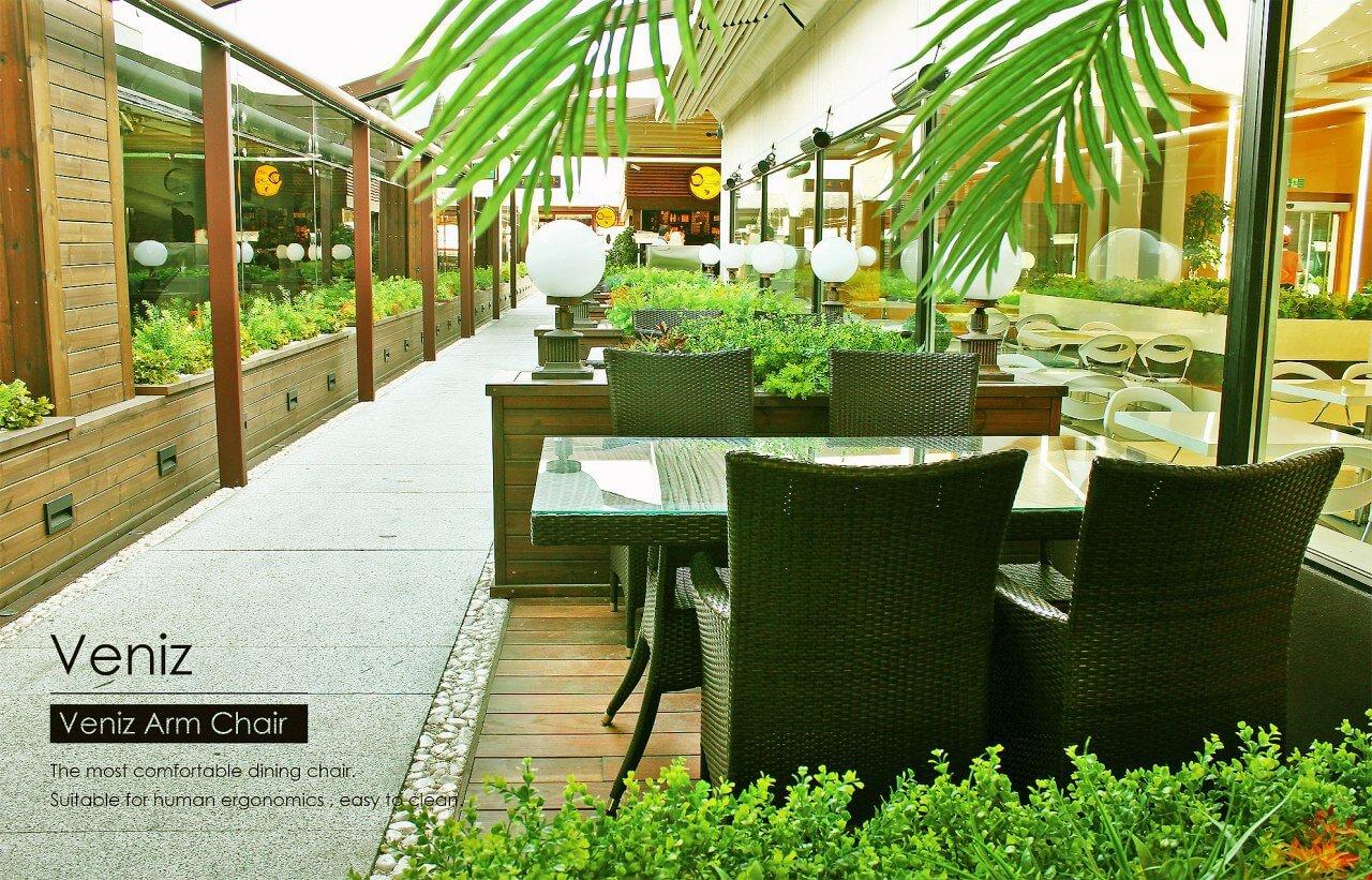 bornovi woven rectangular table code13 0 - میز حصیری مستطیلی فضای باز بورنووی -  - patio-dining-tables