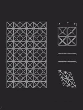 پنل دکوراتیو سه بعدی داژو مدلM18
