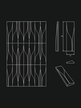 پنل دکوراتیو سه بعدی داژو مدلM26