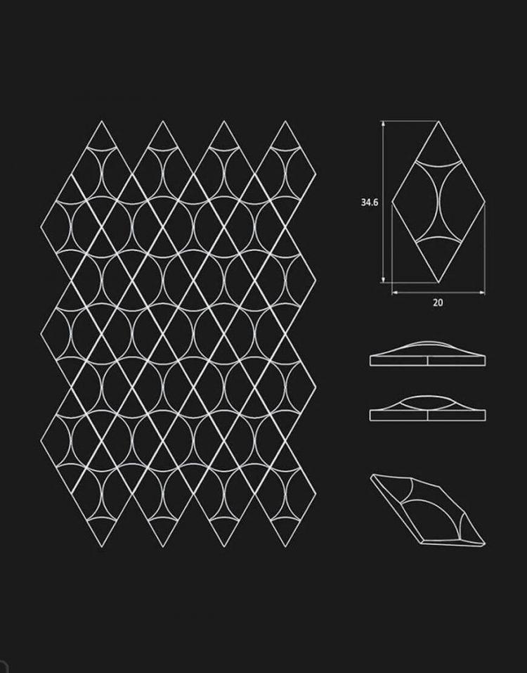 پنل دکوراتیو سه بعدی داژو مدلM27
