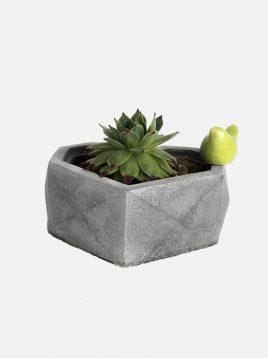 گلدان رومیزی ساده سنگی بتنی دکوسیتی مدل DCO17