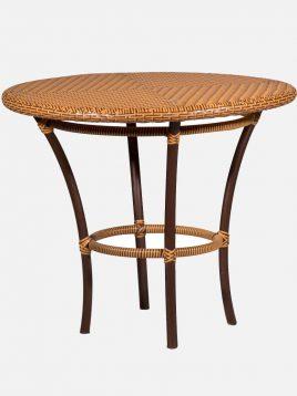 میز گرد چایخوری حصیری دکورز مدل نمون