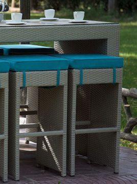 ست میز صندلی بار محوطه دکورز مدل بامبو