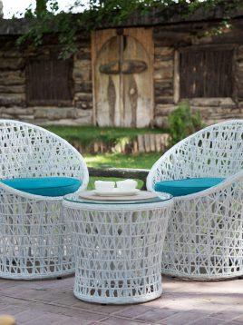 ست صندلی چایخوری فضای باز دکورز مدل مارسی
