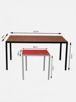 میز آلومینیومی مدل اسپوتا