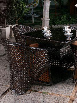 ست میز صندلی غذاخوری فضای باز کوهبر مدل ۱۰۱