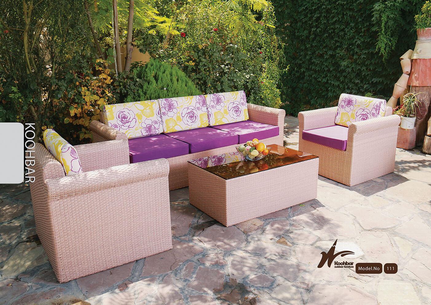 kohbar patio conversation sets 111 model0 - ست مبلمان حصیری محوطه کوهبر مدل ۱۱۱ - - patio-conversation-sets