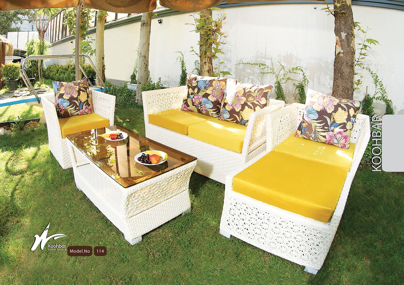 kohbar patio conversation sets 114 model0 - ست مبلمان حصیری حیاط کوهبر مدل ۱۱۴ - - patio-conversation-sets