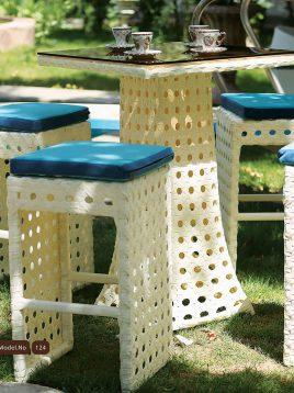ست میز صندلی بار حصیری کوهبر مدل ۱۲۴