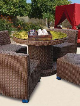 kohbar patio conversation sets 131 model1 268x358 - ست مبلمان حصیری محوطه کوهبر مدل ۱۳۱