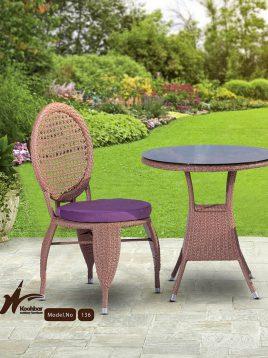 kohbar patio conversation sets 136 model1 268x358 - ست میز صندلی حصیری حیاط کوهبر مدل ۱۳۶