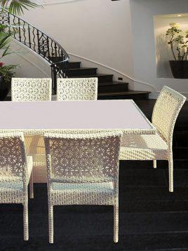 ست میز صندلی ناهارخوری باغی کوهبر مدل ۱۳۸