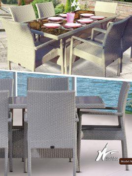 ست میز صندلی ناهارخوری باغی کوهبر مدل ۱۳۹