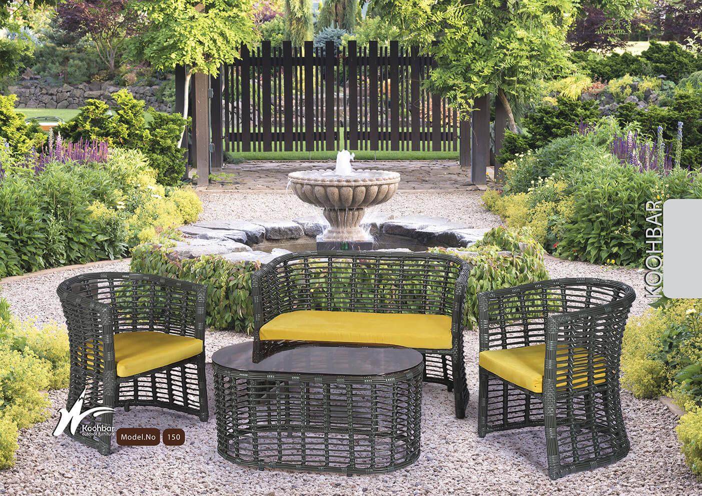 kohbar patio conversation sets 150 model0 - ست مبلمان حصیری فضای باز کوهبر مدل ۱۵۰ - - patio-conversation-sets