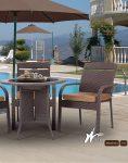 ست میز صندلی حصیری فضای باز کوهبر مدل ۱۵۳