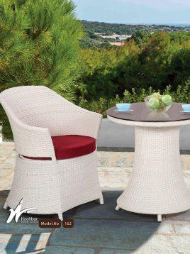 ست میز صندلی حصیری فضای باز کوهبر مدل ۱۶۲