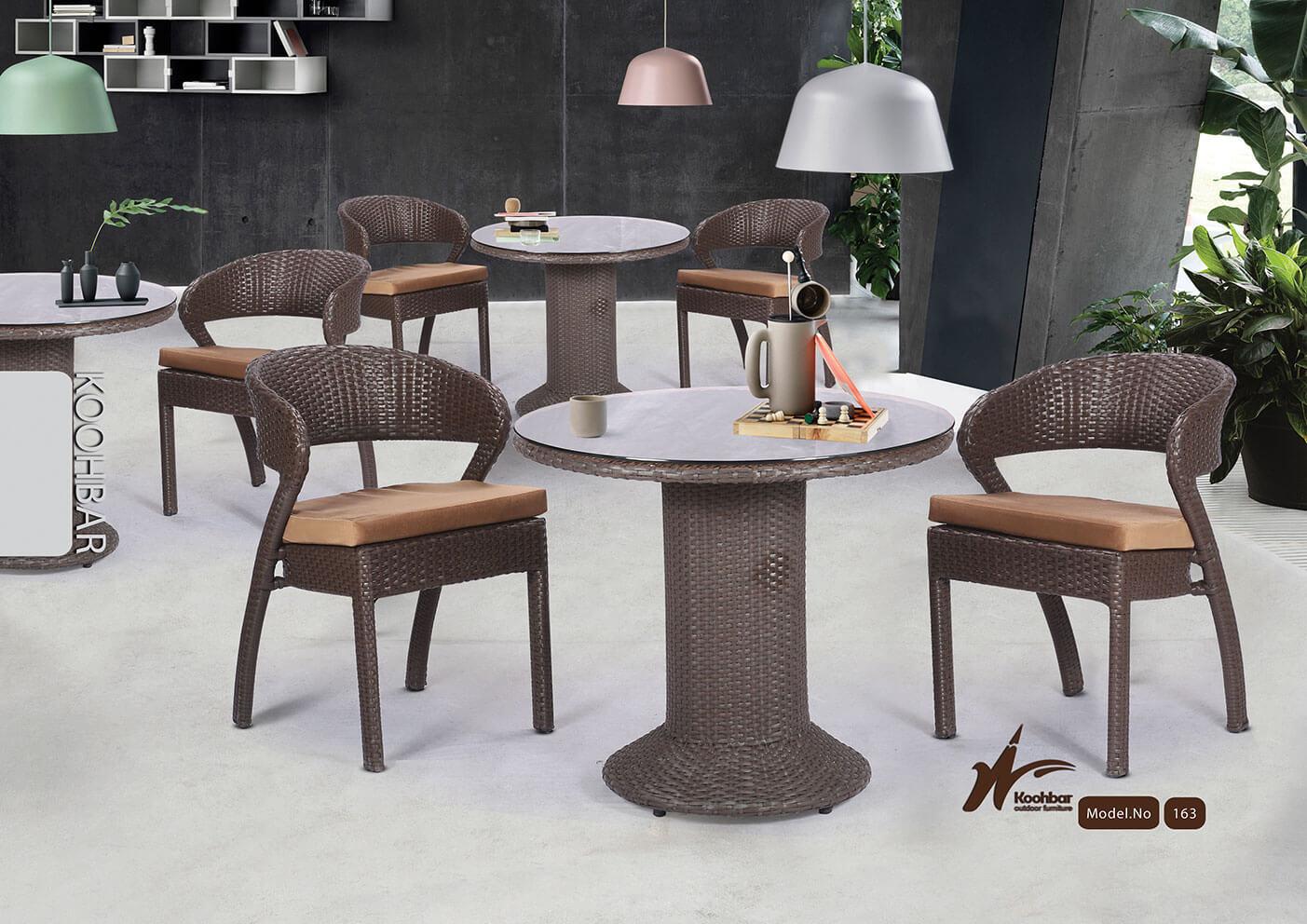 kohbar patio conversation sets 163 model0 - ست میز صندلی حصیری فضای باز کوهبر مدل ۱۶۳ -  - patio-conversation-sets