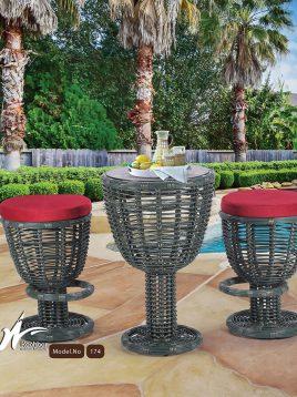 kohbar patio conversation sets 174 model1 268x358 - ست میز صندلی بار تراس کوهبر مدل ۱۷۴