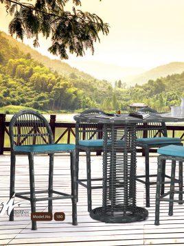 ست میز صندلی بار کوهبر مدل ۱۸۰