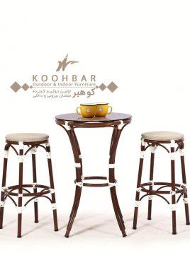 ست میز صندلی بار فضای باز کوهبر مدل ۲۰۹