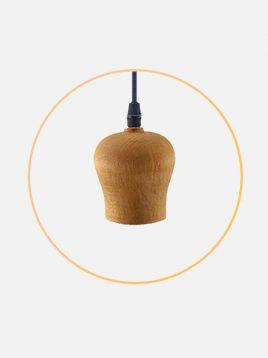 چراغ آویز چوبی مدل لئو